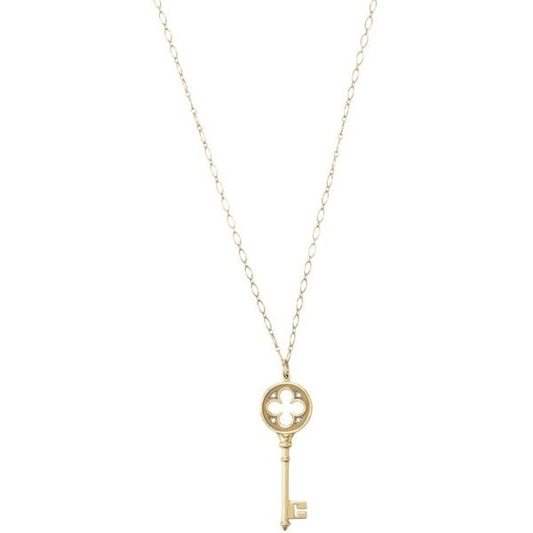 3739a0ee8d70 Pre-owned Tiffany  amp  Co 750 Gold Clover Key Necklace ( 1