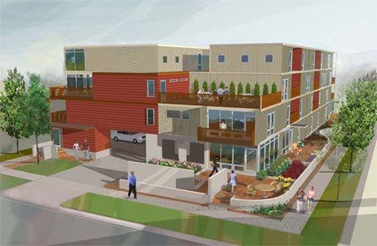 House Built Out Of Shipping Containers a new project in detroit will upcycle 93 shipping containers into