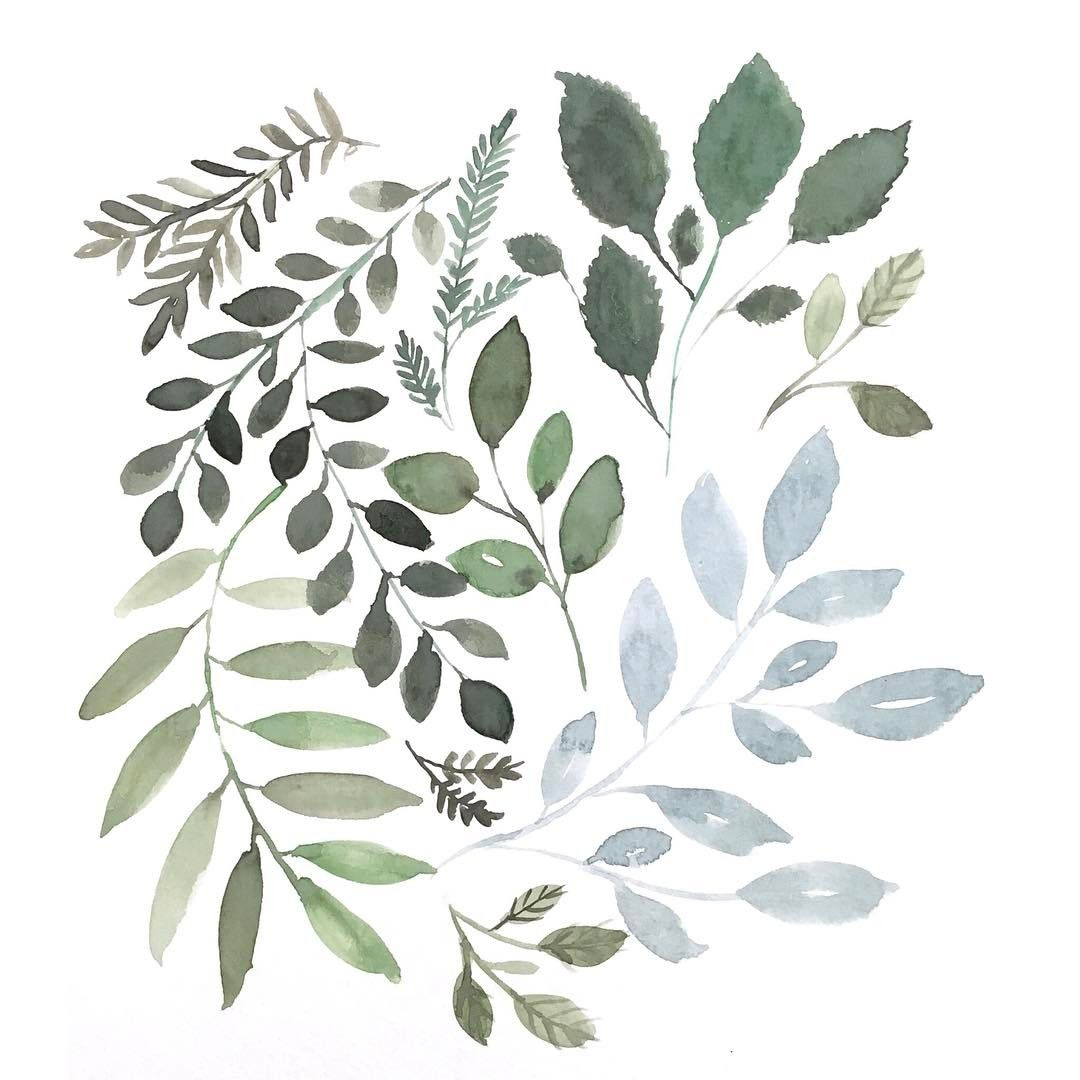 Emma Jane Lefebvre On Instagram I Just Love Greenery Painting