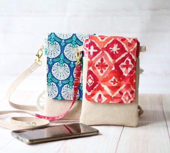 Mini crossbody bag Pdf Pattern, Cell Phone Sleeve Pdf Pattern, Phone ...