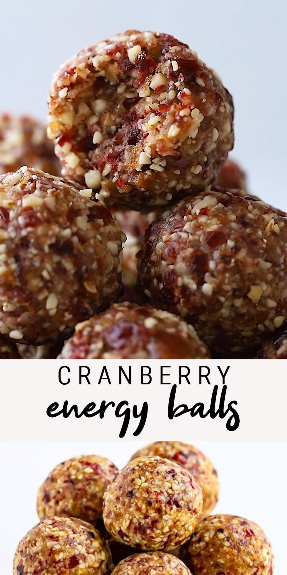 Cranberry Energy Balls | Healthy No Bake Snack | V