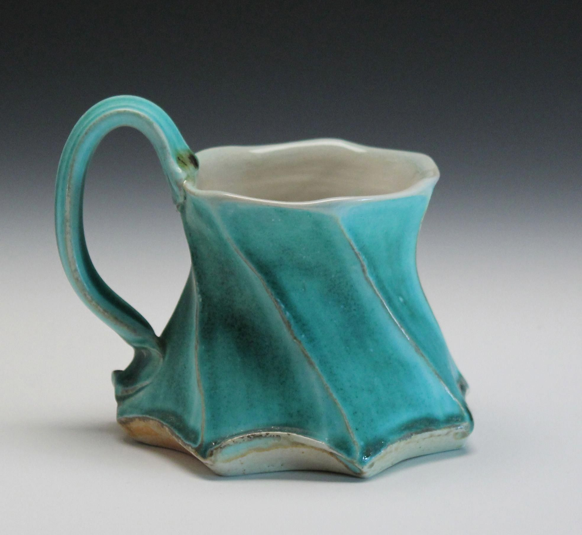 How to facet wheel thrown pottery with a homemade twisted