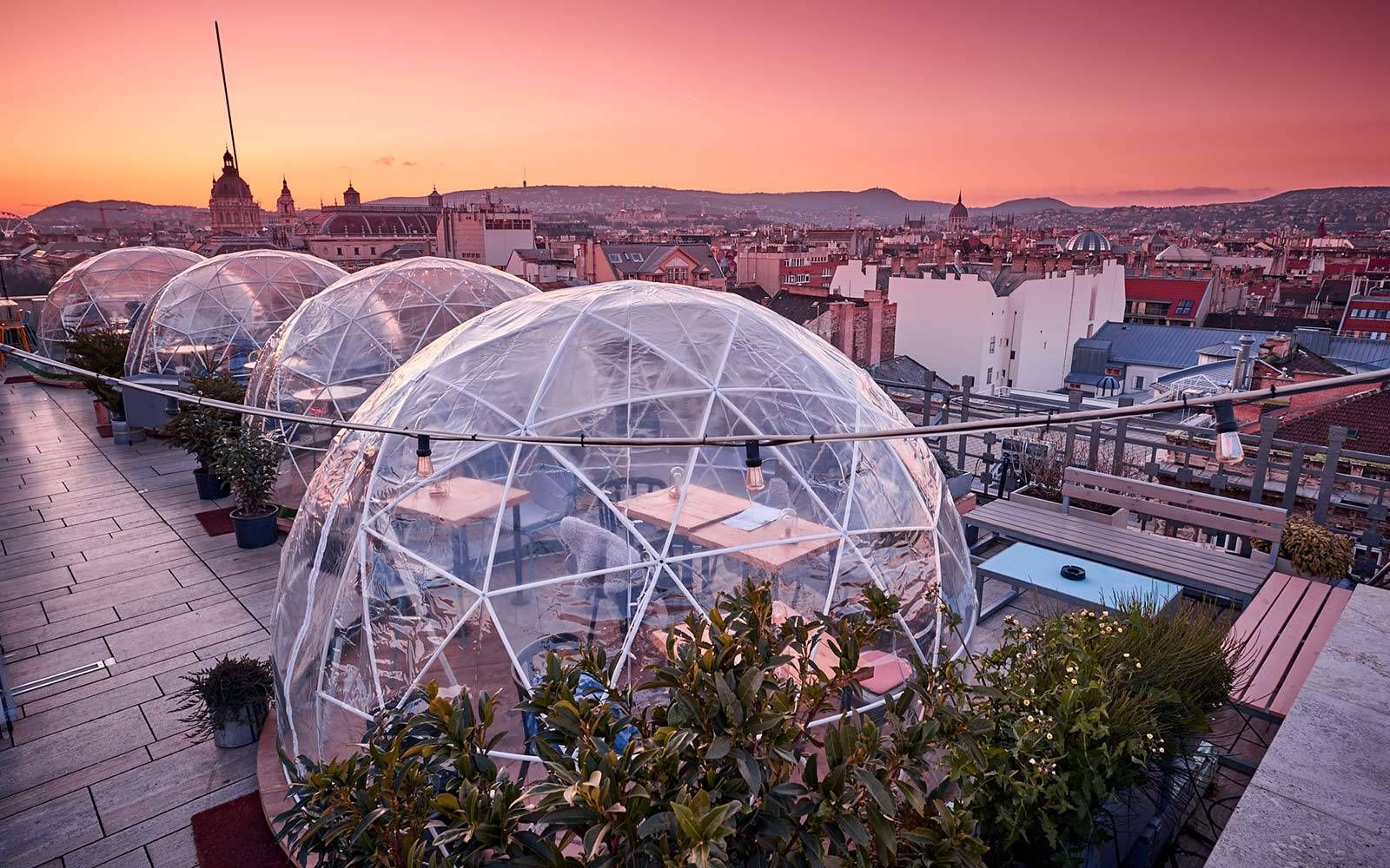 Enjoy a Drink in a Rooftop Igloo at This Bar in Budapest ...