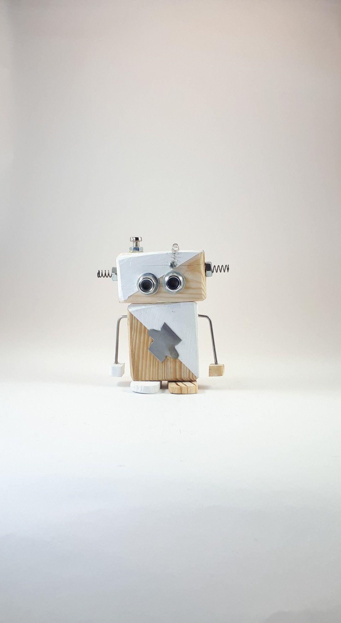 Ahsap Robot Wooden Robot Diy Pallet Projects Kid Robot Toys Pallet Diy