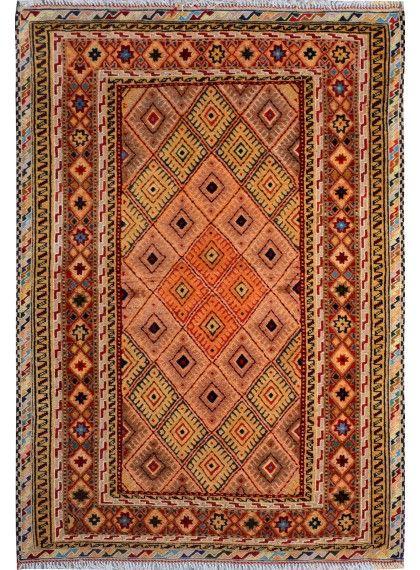 "Handmade Afghan Multi-colored Oriental Tribal Mashwani Kilim 2' 8"" x 3' 11"" (ft) - No. 10523 http://alrug.com/multi-colored-oriental-tribal-mashwani-kilim-2-8-x-3-11-ft-no-10523.html"