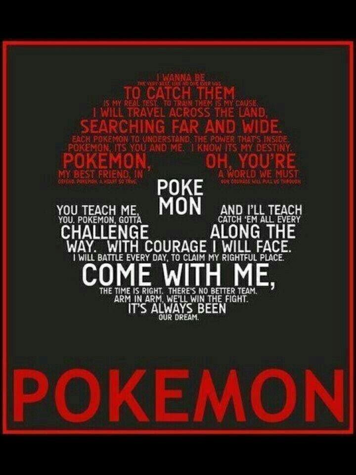 Lyric song lyric search engine : Pokémon Theme Song, lyrics, text, Pokeball; Pokémon | Pokémon ...
