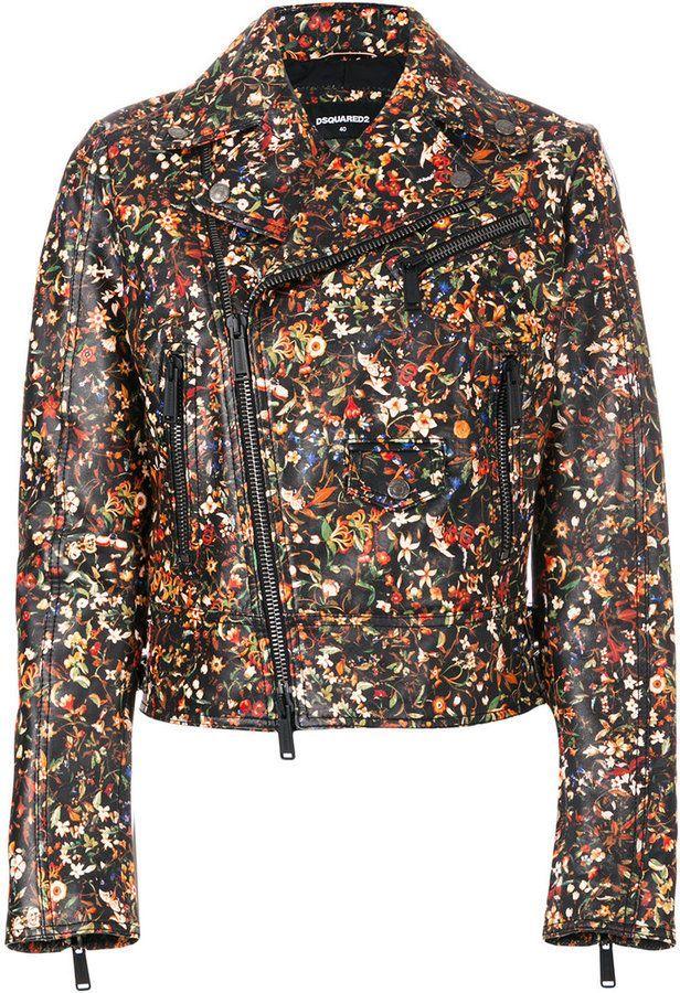 Visit Sast Cheap Price Dsquared2 floral print biker jacket Recommend Online i3B8al9GCs