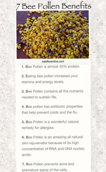 7 Bee Pollen Benefits | Bee pollen, Benefit and Bees