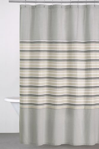 Merveilleux Grey U0026 Tan Striped DKNY Sahara Shower Curtain ~ DonnaKaranHome.com