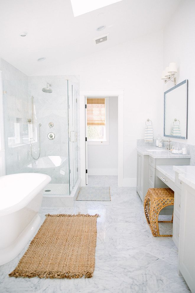 Bathroom Clean Looking Bathroom All White Master Bathroom With Gray Vanity Bathroom A White Master Bathroom Bathroom Design Decor Bathroom Remodel Designs