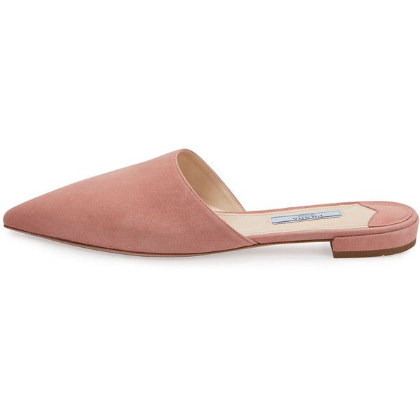 Prada Satin Pointed-Toe Mules clearance lowest price new styles cheap online from china uXFqUkl