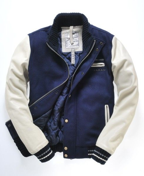 Victory Sport Leather Fashion Jacket Vasity Excellent Design in size M