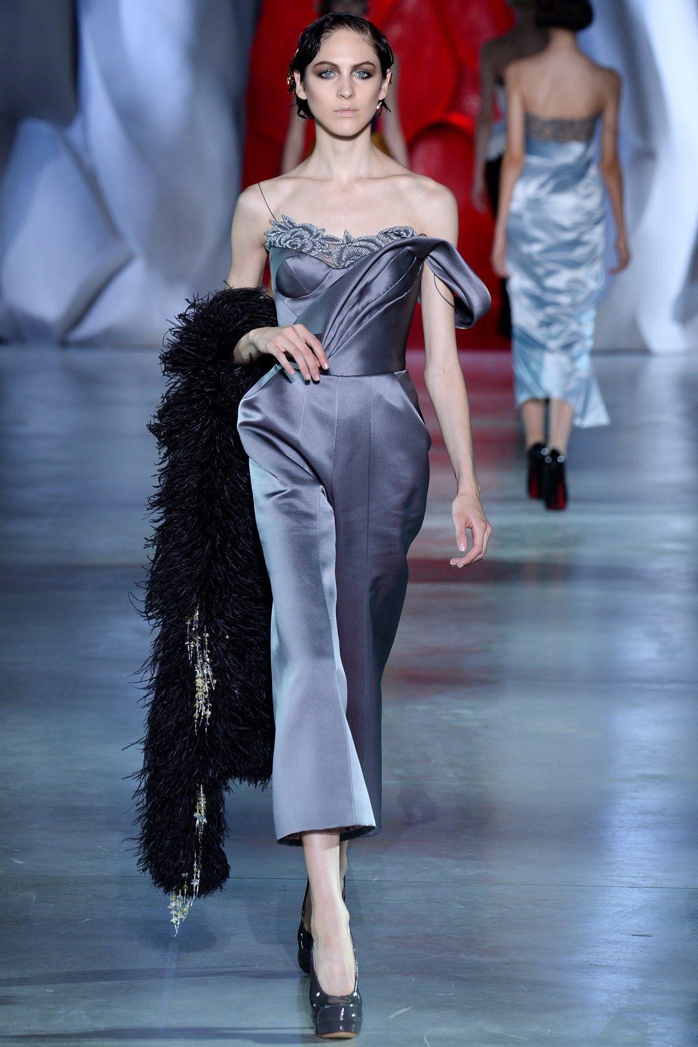 Ulyana Sergeenko Fall 2014 Couture Fashion Show - Lida Fox (Next)