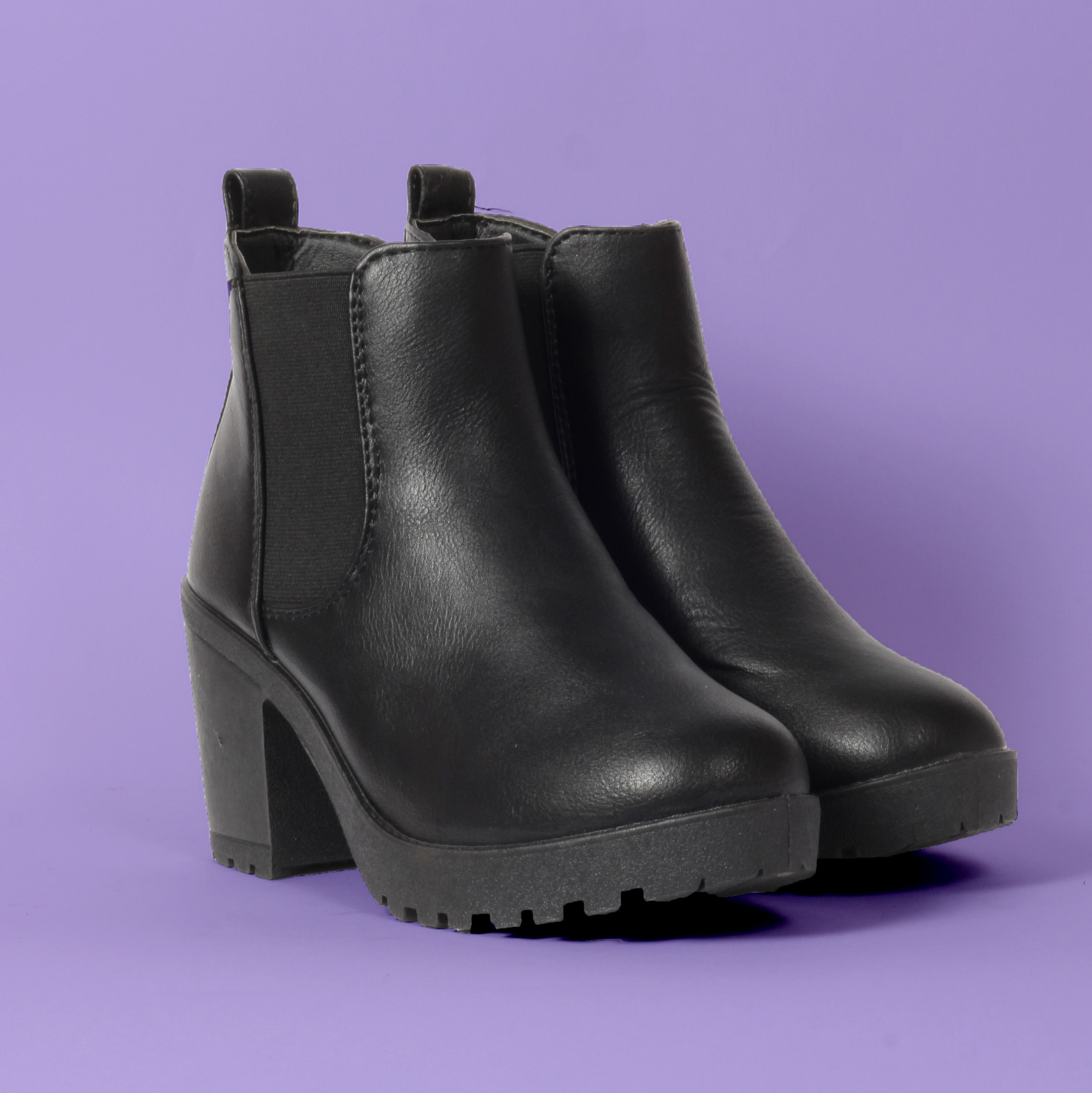 0ffabe78f BACK TO BASICS with these faux leather slip on boots perfect for  winter fall to