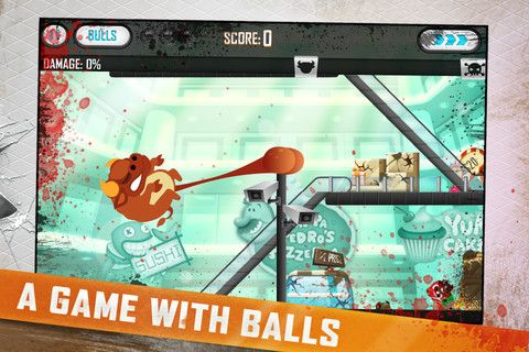 Bullistic Unleashed is a physics puzzler app developed by Millipede Creative Development that allows you to harness the power of bulls and their balls to crush a mall. It's as ridiculous as it sounds, and totally caters to those of us who have a bit more of an immature sense of humour.