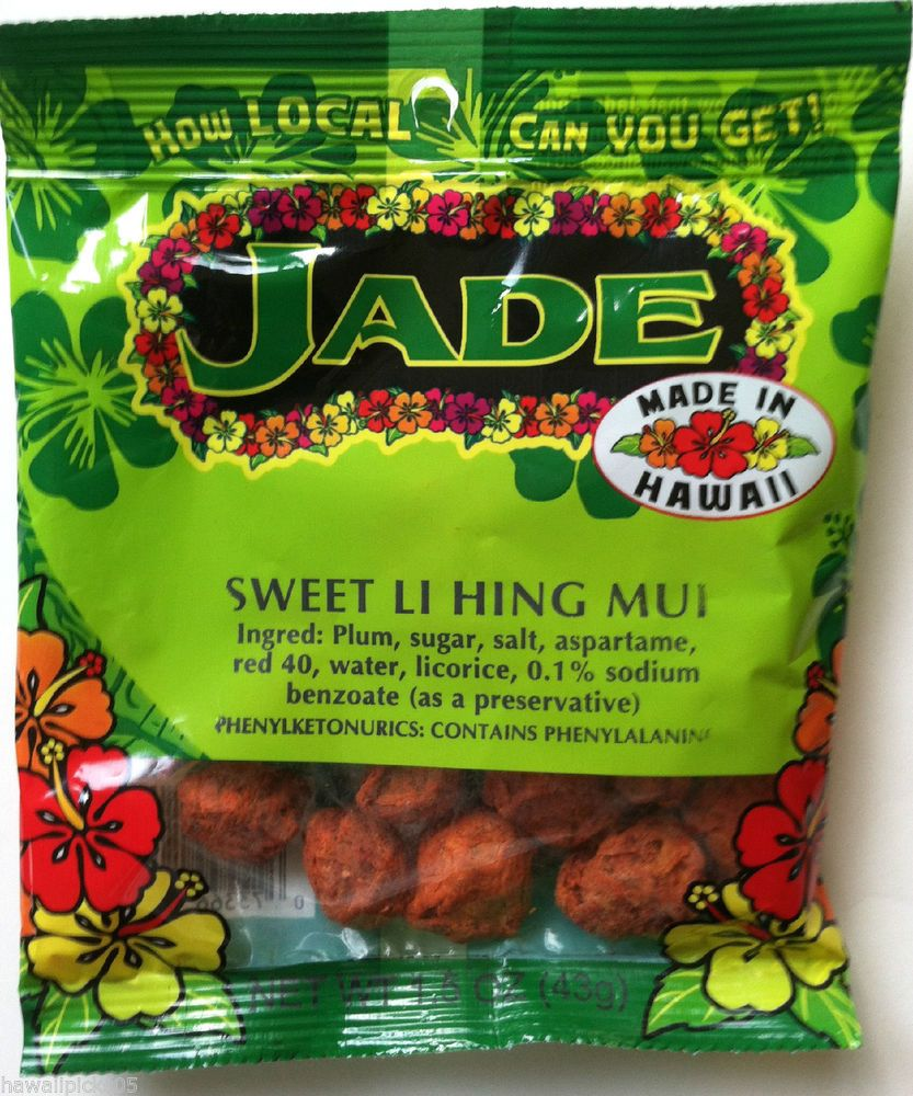 Jade Brand Red Sweet Li Hing Mui Plum Hawaii Snacks Dried