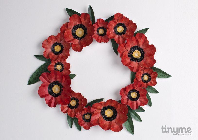 wreath template anzac day # 8