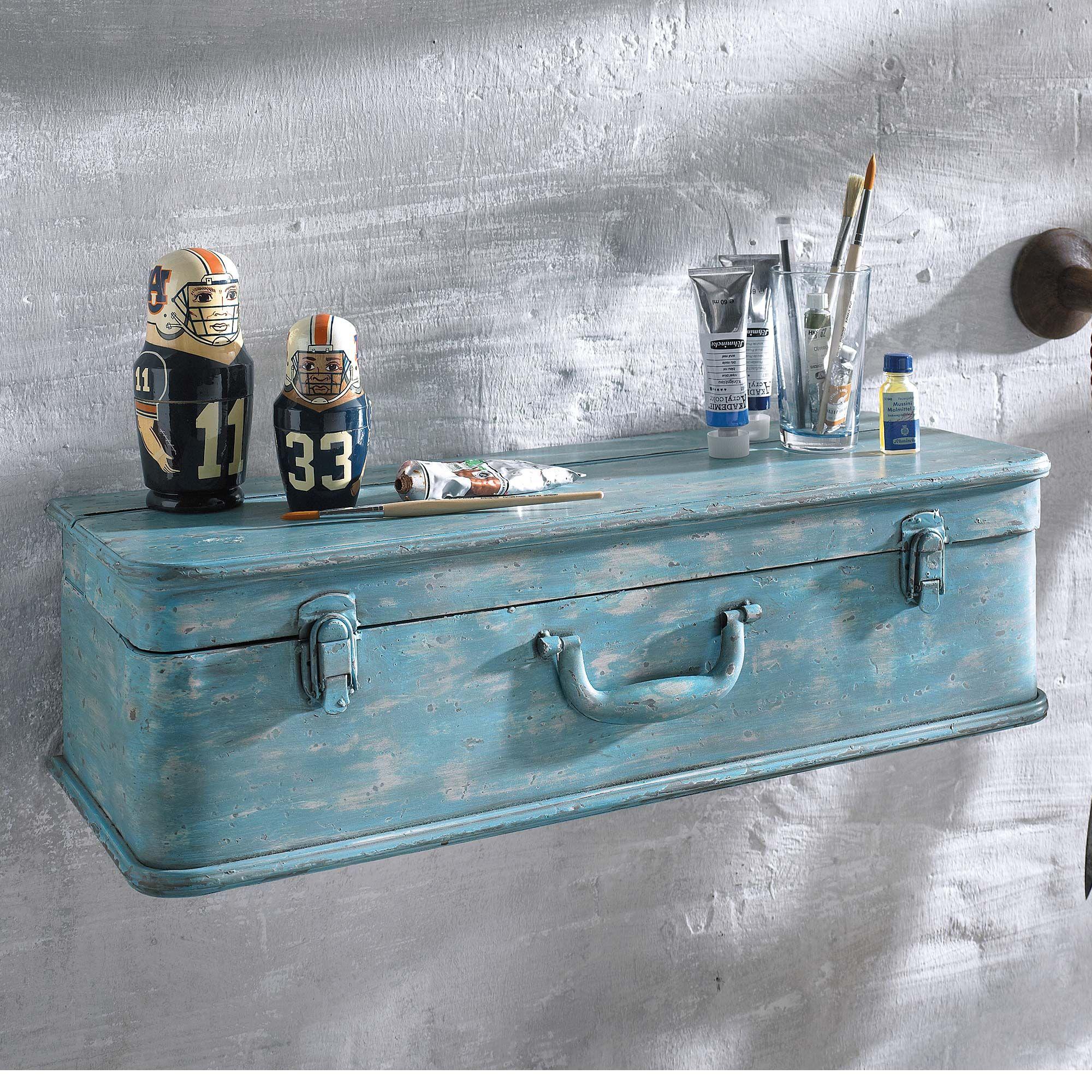 wandregal koffer koffer eignen sich nicht nur zum reisen sondern auch als tolles wandregal. Black Bedroom Furniture Sets. Home Design Ideas