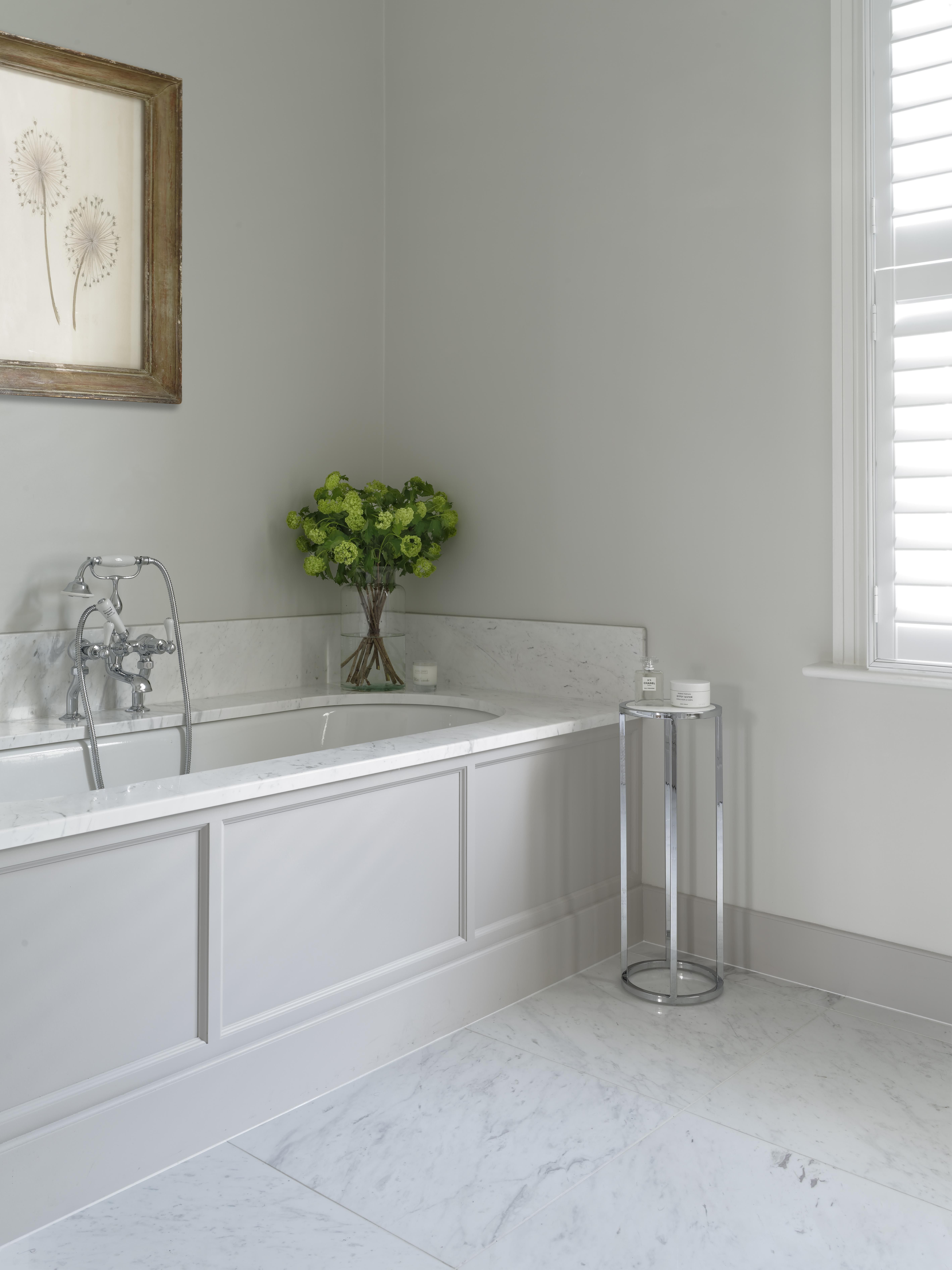 Porter Bath Surround with Crystal White Marble Top | Bathroom ...