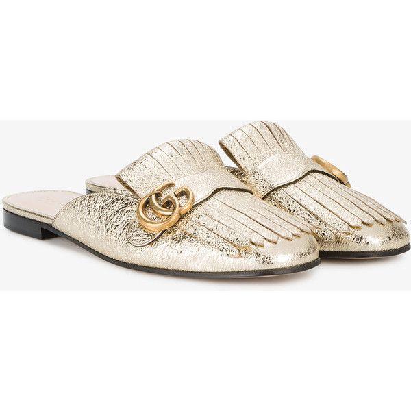Slipper Marmont de Piel Metalizada Laminada Gucci DOkrCtnAPs