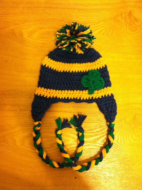 e95c01a6cb2 Notre Dame Baby Hat with earflaps via Etsy baby boy will need this for his  1st trip off island!
