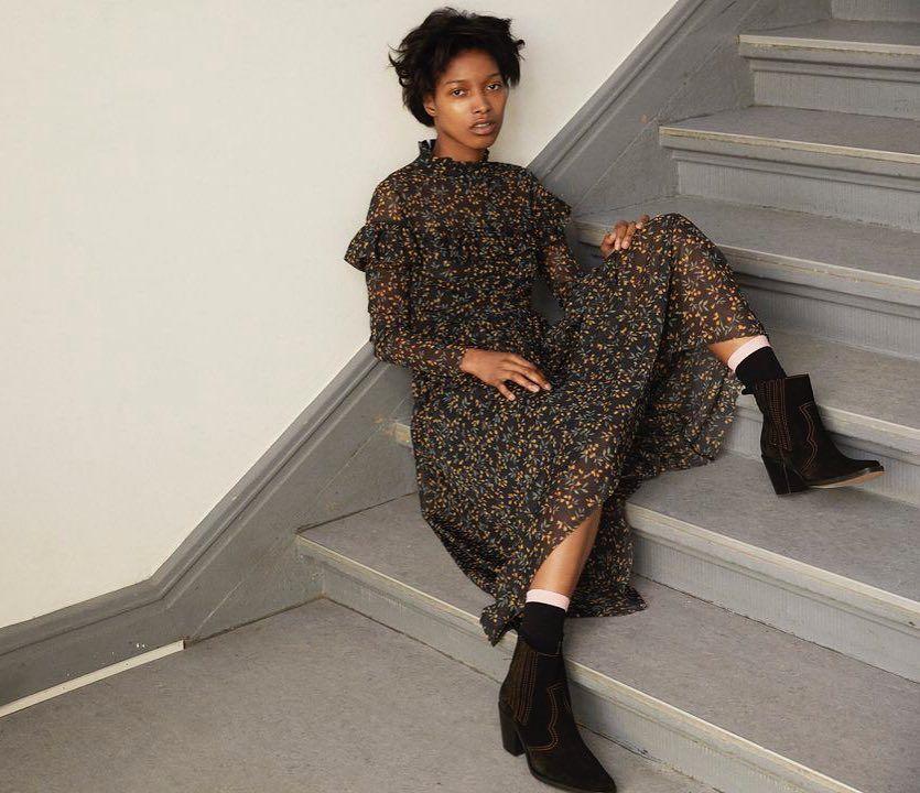3d058523b1c Tilden Mesh maxi dress