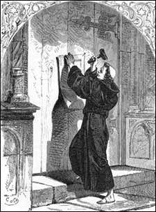 31 Ottobre 1517, il frate affigge alla porta settentrionale della ...
