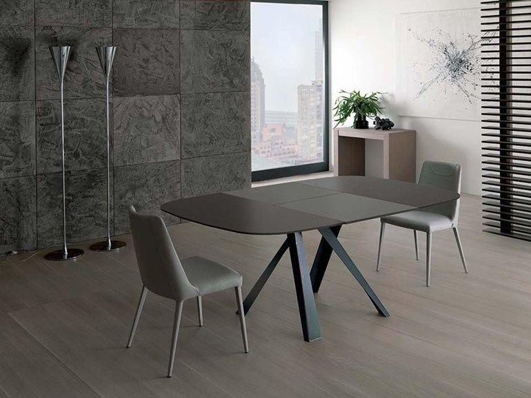 Bombo 桌子 By Ozzio Italia 设计师gabriele Cappelletti Tavolo Quadrato Design Tavolo Quadrato Allungabile Tavoli Quadrati