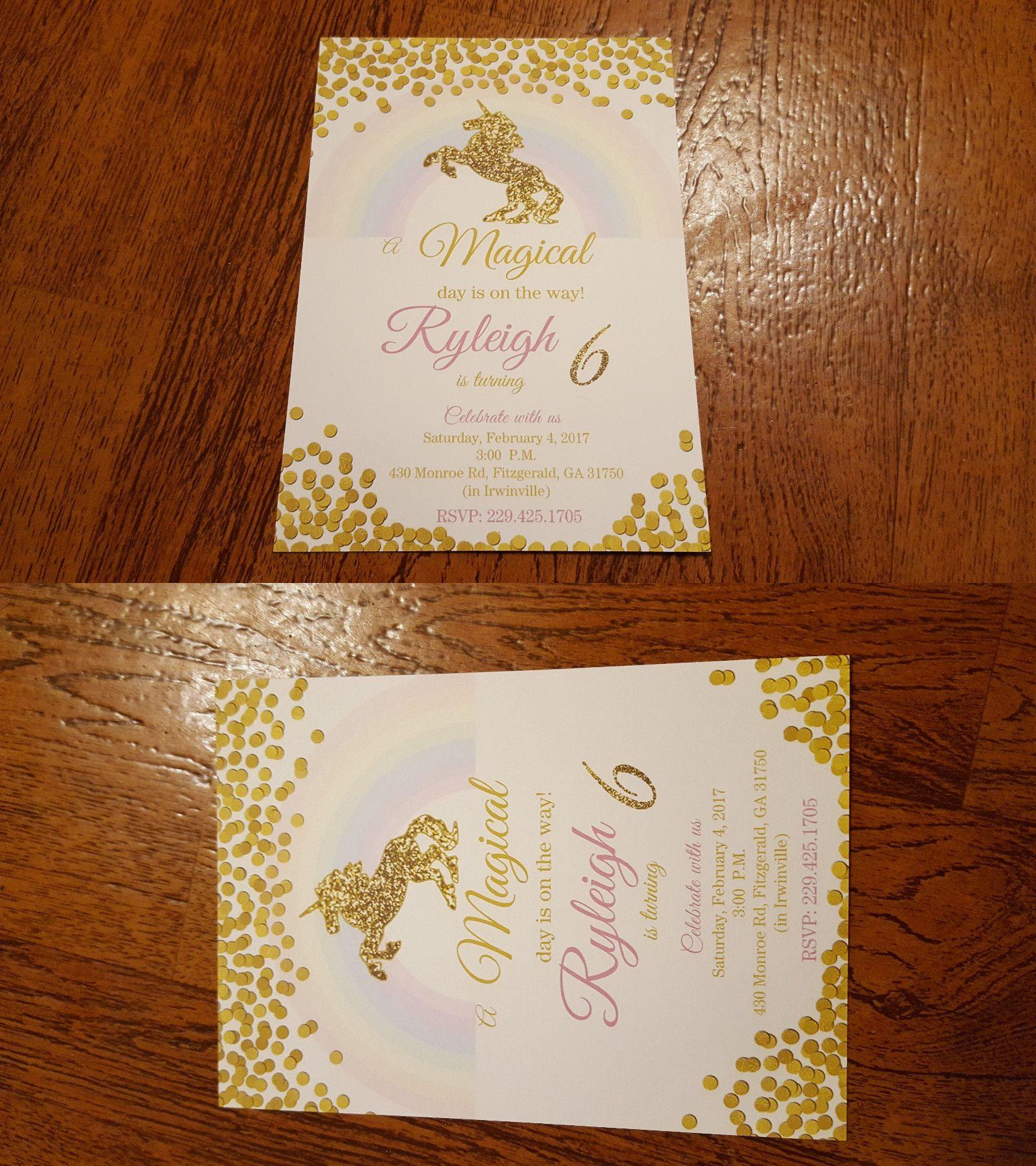 Greeting Cards and Invitations 170098 Unicorn Birthday – Buy Birthday Invitations