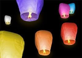 Custom Assorted Colored Sky Lanterns with date or by skylights12, $70.00