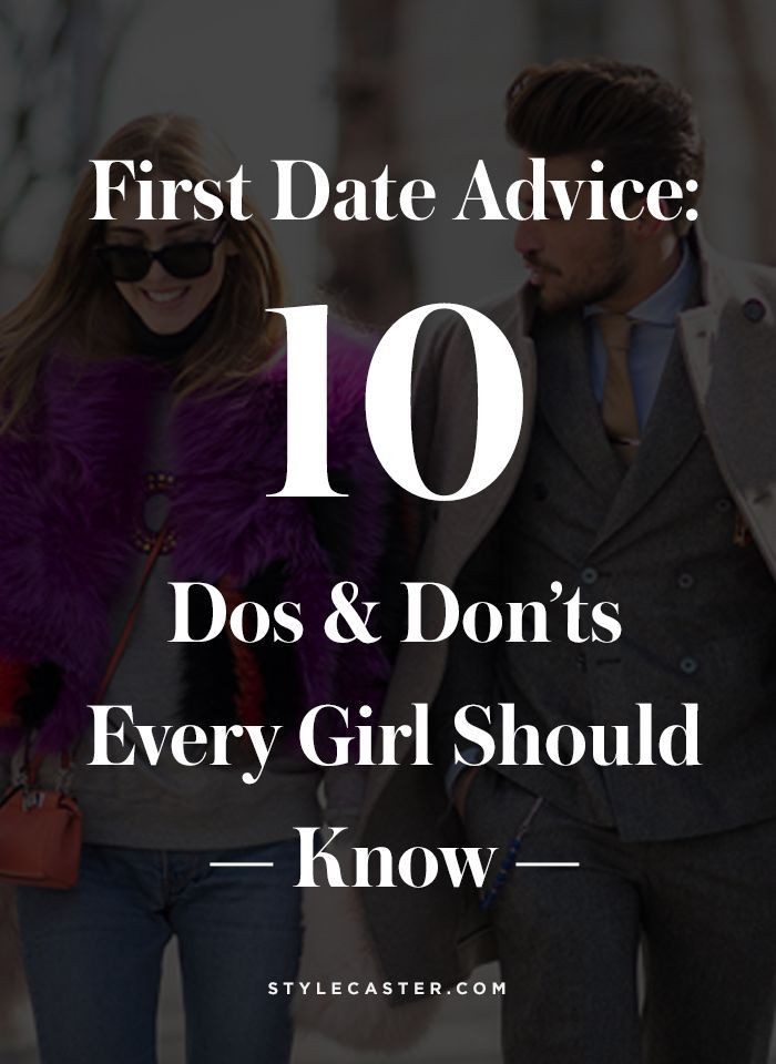 Dating advice for girls first date
