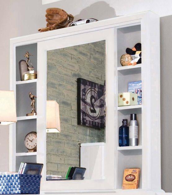 Lea Elite Reflections Cabinet Mirror In Aspen White Finish