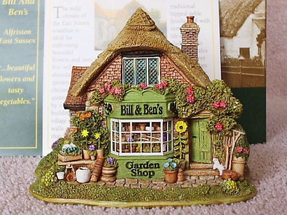 Lilliput Lane .. BILL & BEN S GARDEN SHOP .. Alfriston - East Sussex ..
