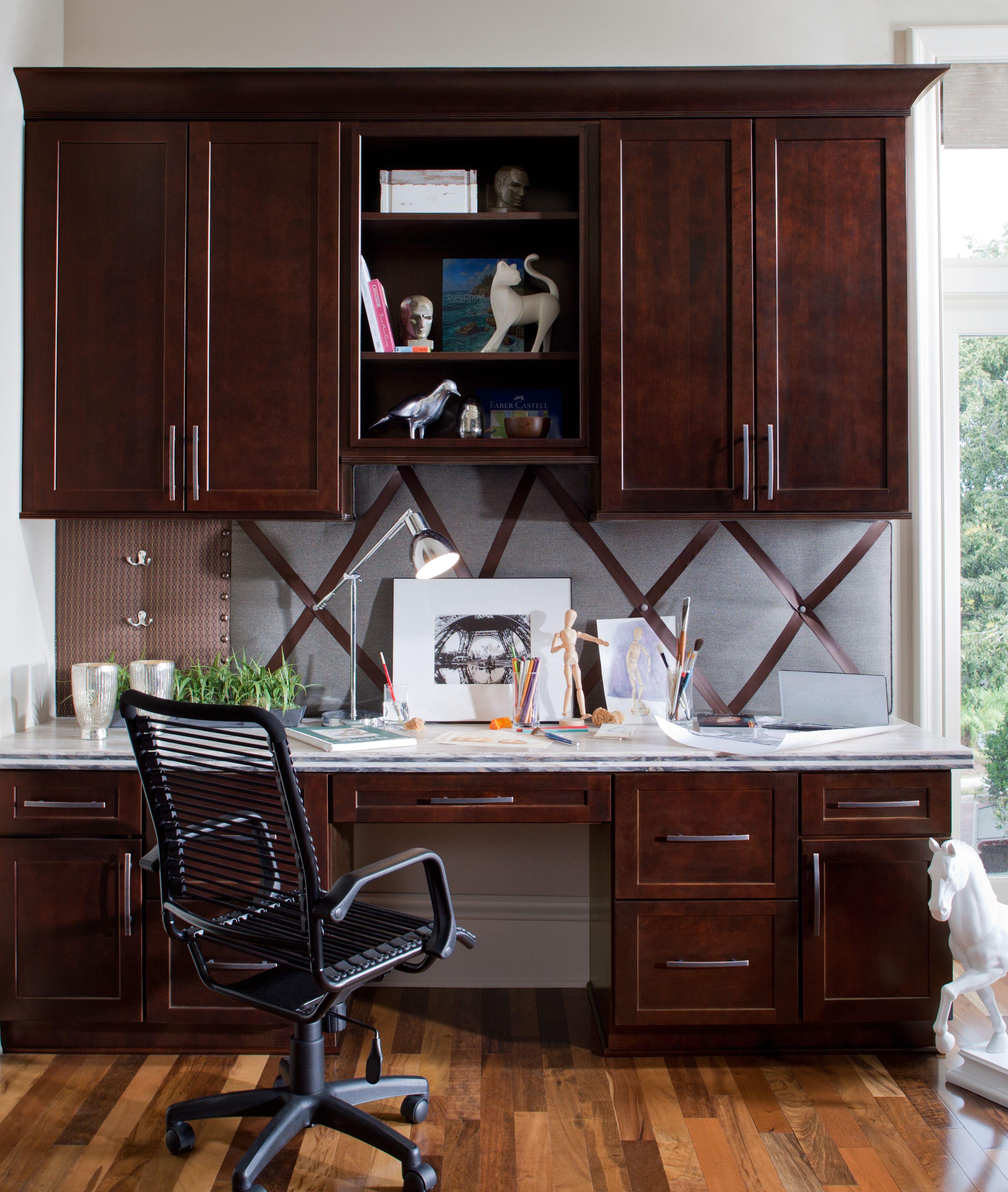 Kitchen Cabinet Lines: Waypoint - Orlando Desk - Cherry Java