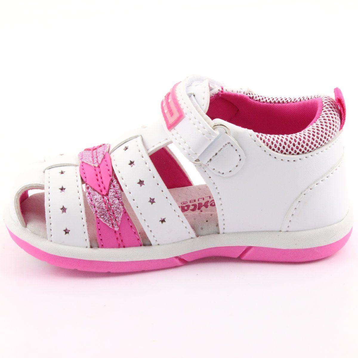 American Club Sandalki Dziewczece American Dr18 Biale Rozowe Baby Shoes Shoes Sneakers