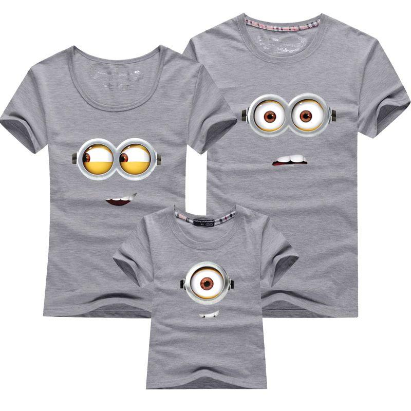 e Outfits Minions Abbigliamento 1pcs Shirt MotherKids Magliette Matching Cotton Family figlia 8vmn0wNO