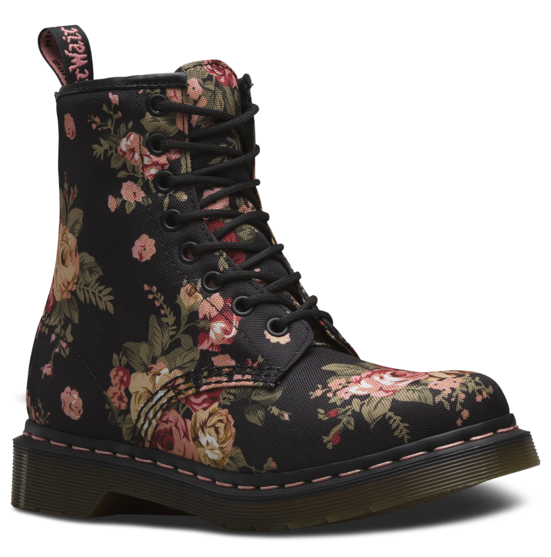 Doc Martens Vintage Flowers Black Boots