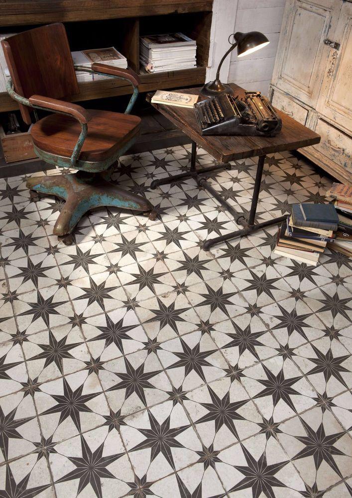 Tile Deals Samples Granado Black Vintage Moroccan Style Wall