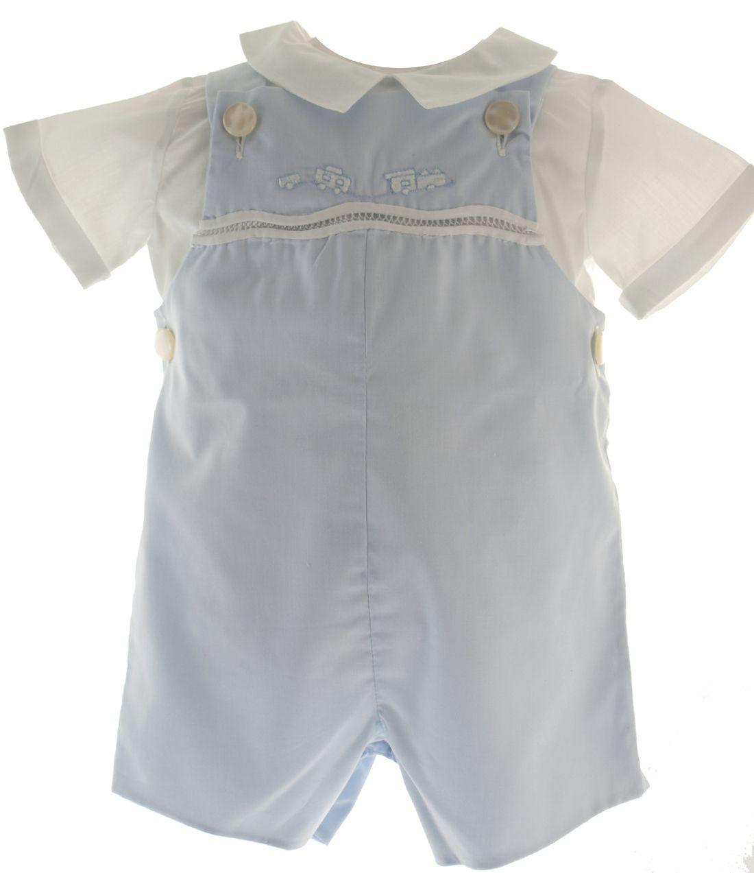 1122660e6 Feltman Brothers - Boys Blue Train Shortall with Shirt Set