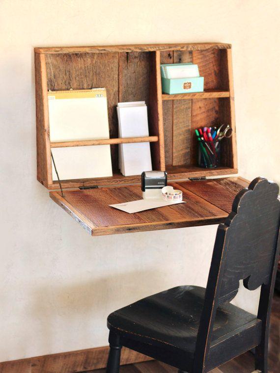 drop down secretary desk wall mounted desk for small spaces rh pinterest com Small Corner Computer Desks IKEA Desk Ideas for Small Spaces