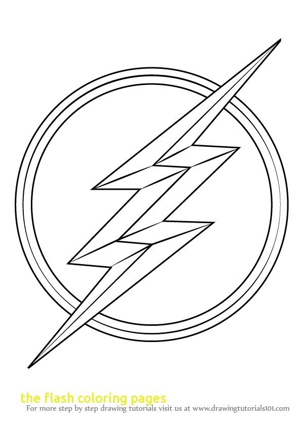 The Flash Coloring Pages The Flash Coloring Pages With Flash Symbol