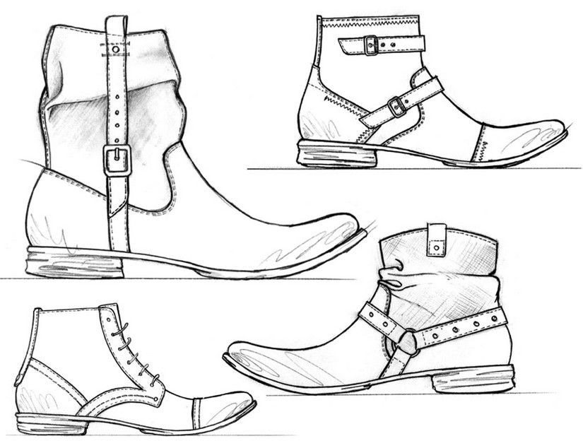 Free Printable Difficult Grown Up Coloring Pages Shoes Creative Leisure Activities Beautiful Drawings Man Boots Drawing 12