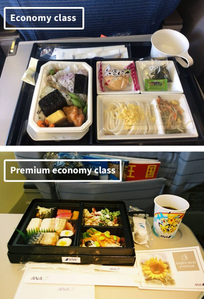 Airline Food Economy Vs First Class Airline Food Food Airplane Food