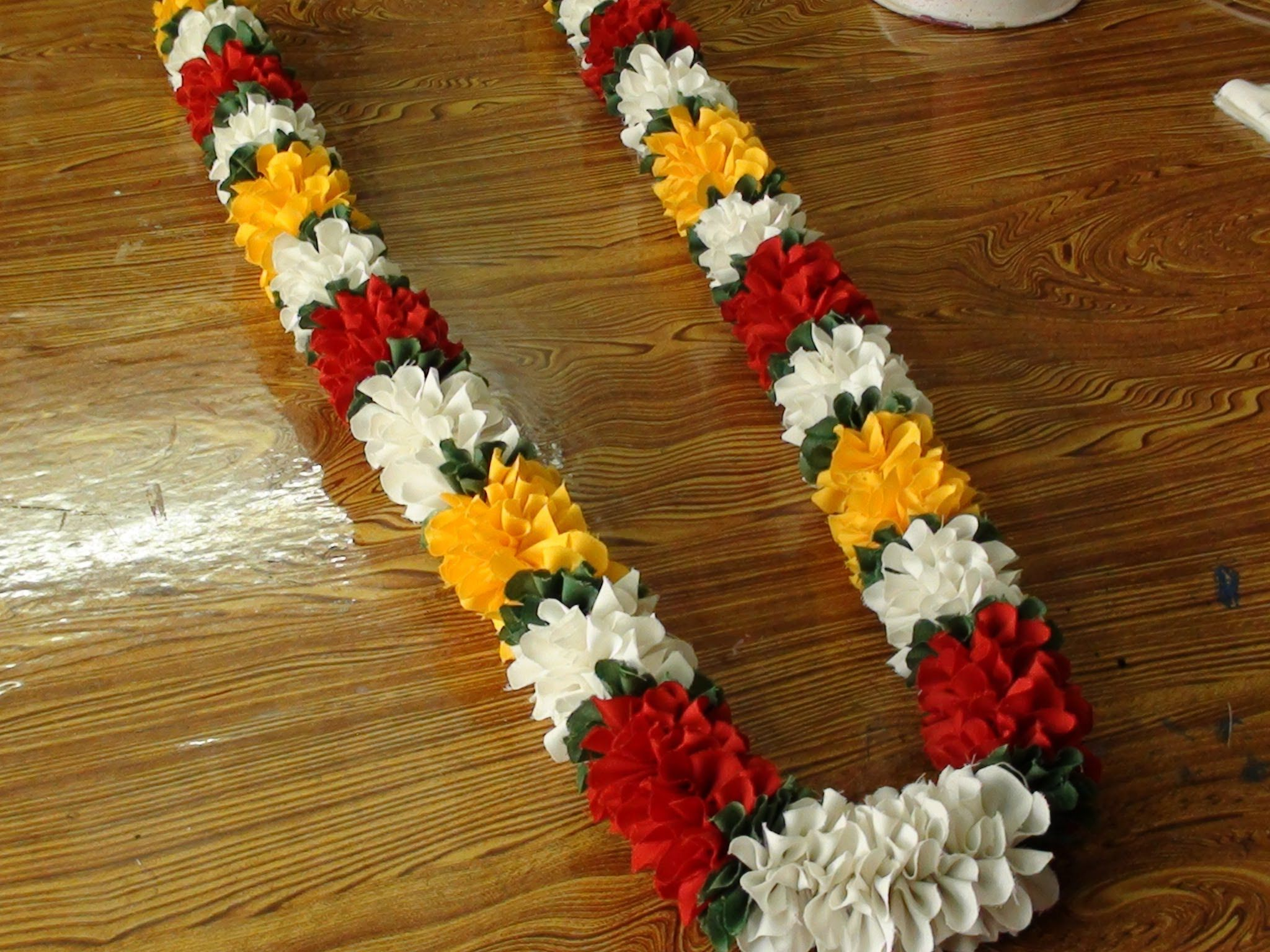 Do It Yourself A Polyester Cloth Garland Flower Making With