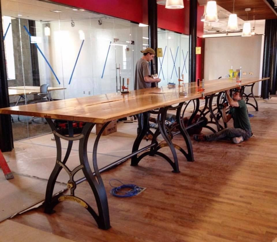 Custom IndustriaLux bases by Vintage Industrial Furniture for JCJ ...