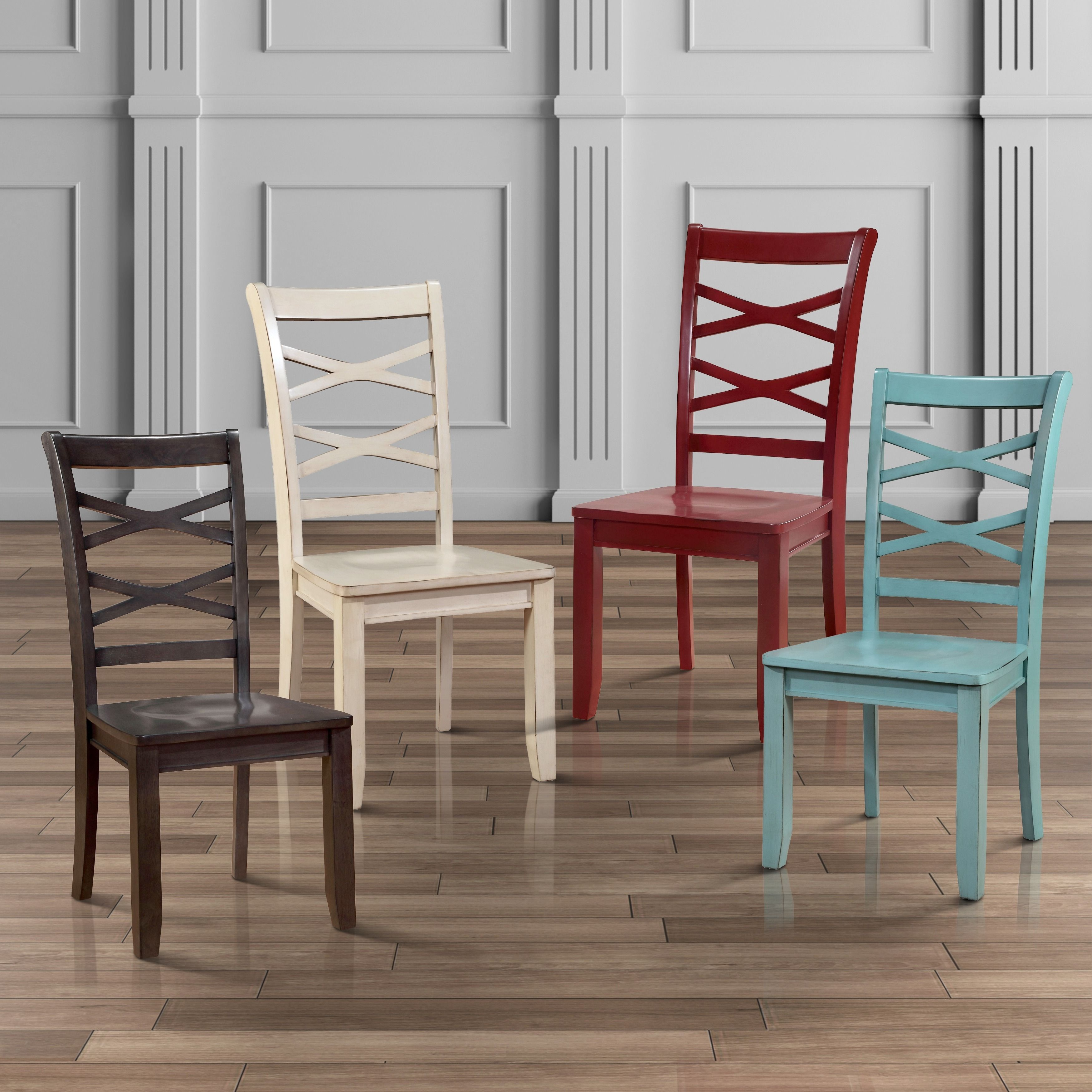 Furniture Of America Crane Country Style X Back Side Chair Set Of  # Muebles Sirena Animal Crossing