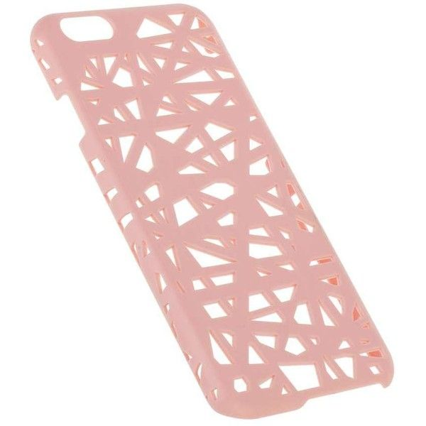 Miss Selfridge Cut Out Phone Case (€9,87) ❤ liked on Polyvore featuring accessories, tech accessories, pink and miss selfridge