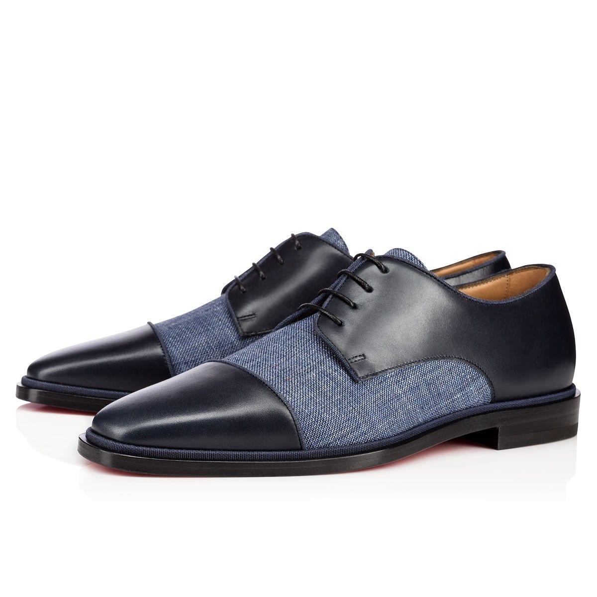 Christian louboutin · CHRISTIAN LOUBOUTIN Bruno Orlato Flat Version Navy  Leather.