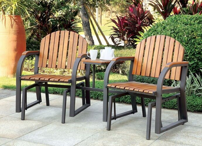 perse collection contemporary style double glider outdoor rocking