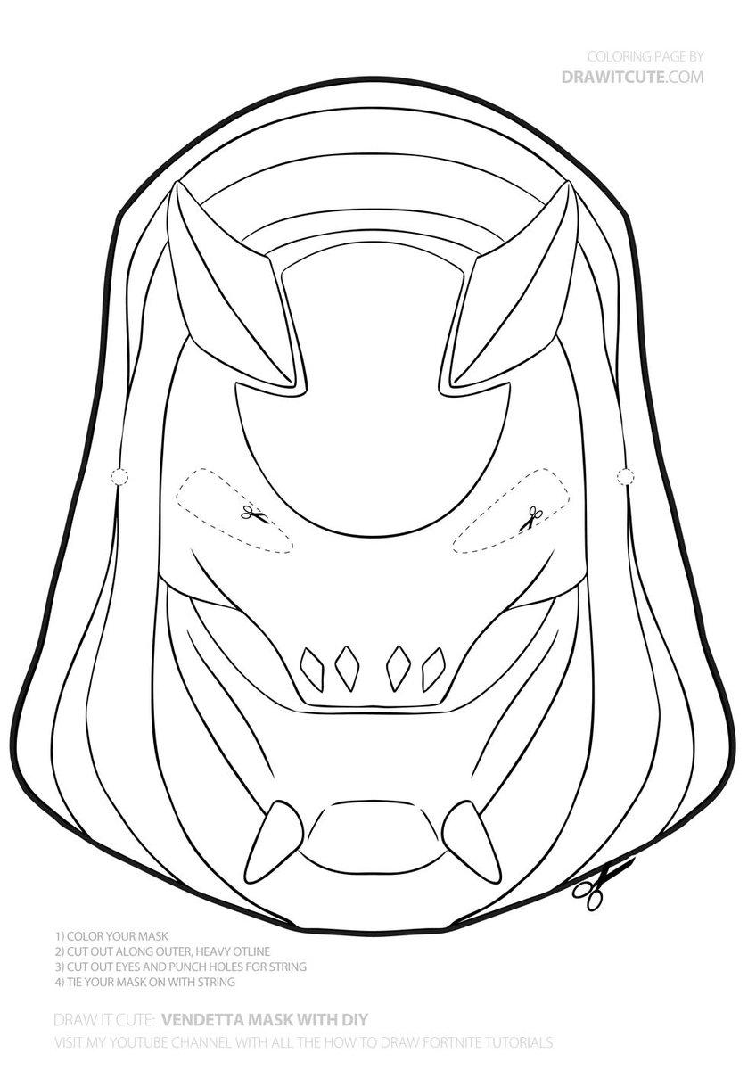 Vendeta Diy Mask Fortnite Diy Howtodraw Coloringpages Fanart Wallpaper Desktop Background I Easy Drawings Easy Drawings For Beginners Drawing For Kids